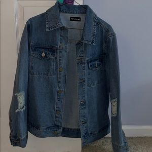 Light wash Oversized Jean Jacket